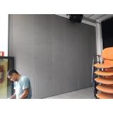 divisória acústica retrátil para empresa Estação