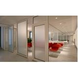 divisória de vidro com porta à venda Nova Olinda