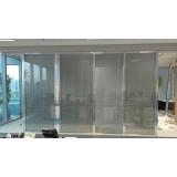 divisória piso teto com vidro duplo
