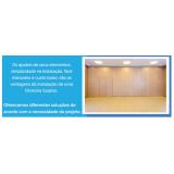 preço de divisória articulada madeira Santo Antônio do Descoberto
