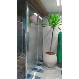 preço de divisória piso teto com vidro duplo Santa rosa