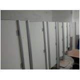 quanto custa divisória para banheiro pequeno Terra Nova do Norte