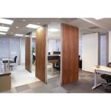 valor de divisória de madeira com vidro Marabá